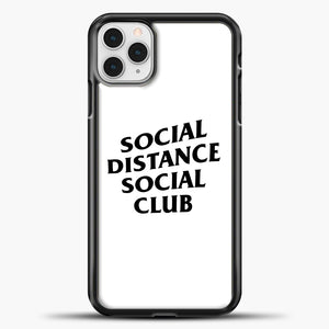 Sosial Distance Club iPhone 11 Pro Case, Black Plastic Case | casedilegna.com