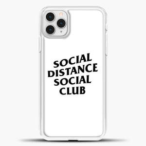 Sosial Distance Club iPhone 11 Pro Case, White Plastic Case | casedilegna.com