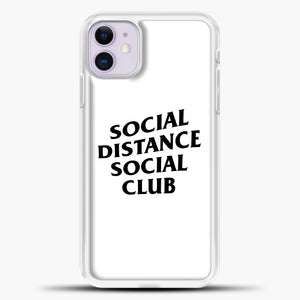 Sosial Distance Club iPhone 11 Case, White Plastic Case | casedilegna.com