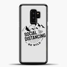 Load image into Gallery viewer, Sosial Distancing Be Wild Samsung Galaxy S9 Plus Case, Black Plastic Case | casedilegna.com