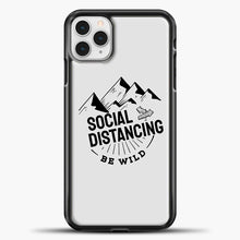 Load image into Gallery viewer, Sosial Distancing Be Wild iPhone 11 Pro Case, Black Plastic Case | casedilegna.com