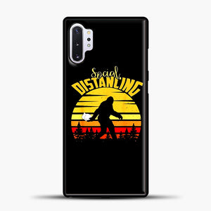 Sosial Distancing Bigfoot Samsung Galaxy Note 10 Plus Case, Black Plastic Case | casedilegna.com