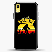 Load image into Gallery viewer, Sosial Distancing Bigfoot iPhone XR Case, Black Plastic Case | casedilegna.com