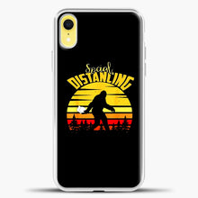 Load image into Gallery viewer, Sosial Distancing Bigfoot iPhone XR Case, White Plastic Case | casedilegna.com