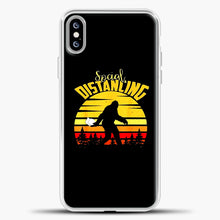 Load image into Gallery viewer, Sosial Distancing Bigfoot iPhone XS Max Case, White Plastic Case | casedilegna.com