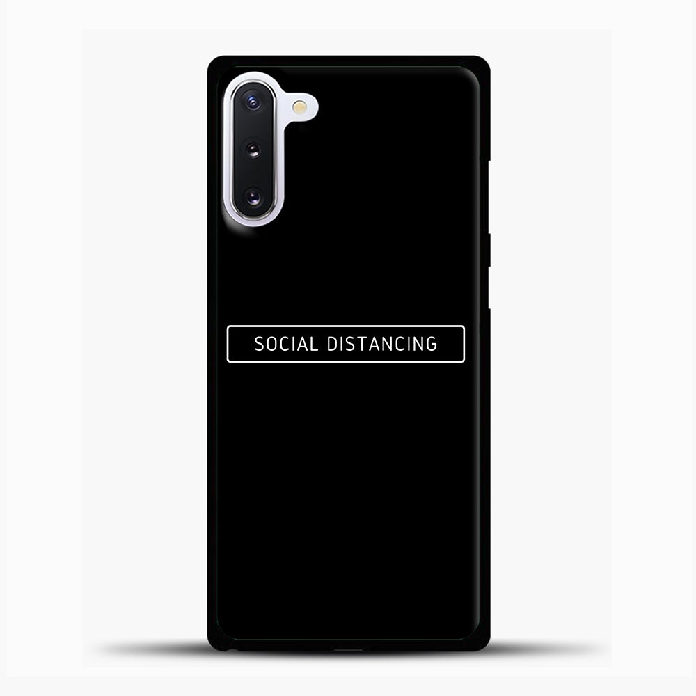 Sosial Distancing Black Samsung Galaxy Note 10 Case, Black Plastic Case | casedilegna.com