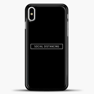 Sosial Distancing Black iPhone X Case, Black Plastic Case | casedilegna.com