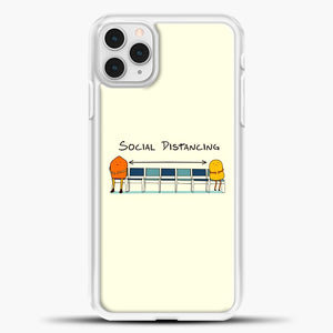 Sosial Distancing Chair iPhone 11 Pro Case, White Plastic Case | casedilegna.com