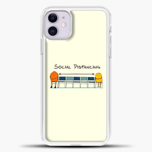 Sosial Distancing Chair iPhone 11 Case, White Plastic Case | casedilegna.com