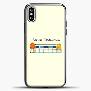 Sosial Distancing Chair iPhone XS Case, Black Plastic Case | casedilegna.com