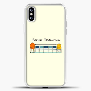 Sosial Distancing Chair iPhone XS Case, White Plastic Case | casedilegna.com