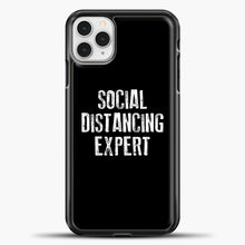 Load image into Gallery viewer, Sosial Distancing Expert Black iPhone 11 Pro Case, Black Plastic Case | casedilegna.com