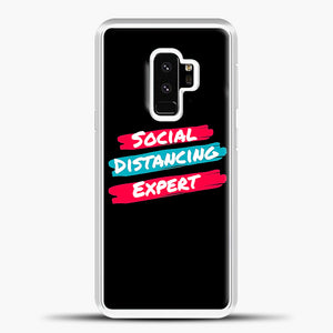 Sosial Distancing Expert Brush Samsung Galaxy S9 Case, White Plastic Case | casedilegna.com