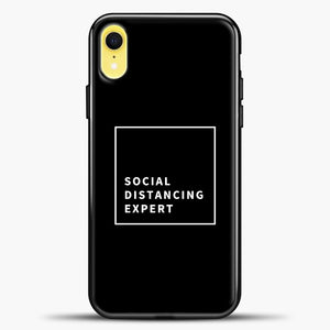 Sosial Distancing Expert Line iPhone XR Case, Black Plastic Case | casedilegna.com