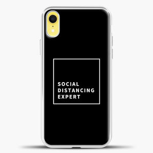Sosial Distancing Expert Line iPhone XR Case, White Plastic Case | casedilegna.com