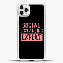 Load image into Gallery viewer, Sosial Distancing Expert Pink iPhone 11 Pro Case, White Plastic Case | casedilegna.com