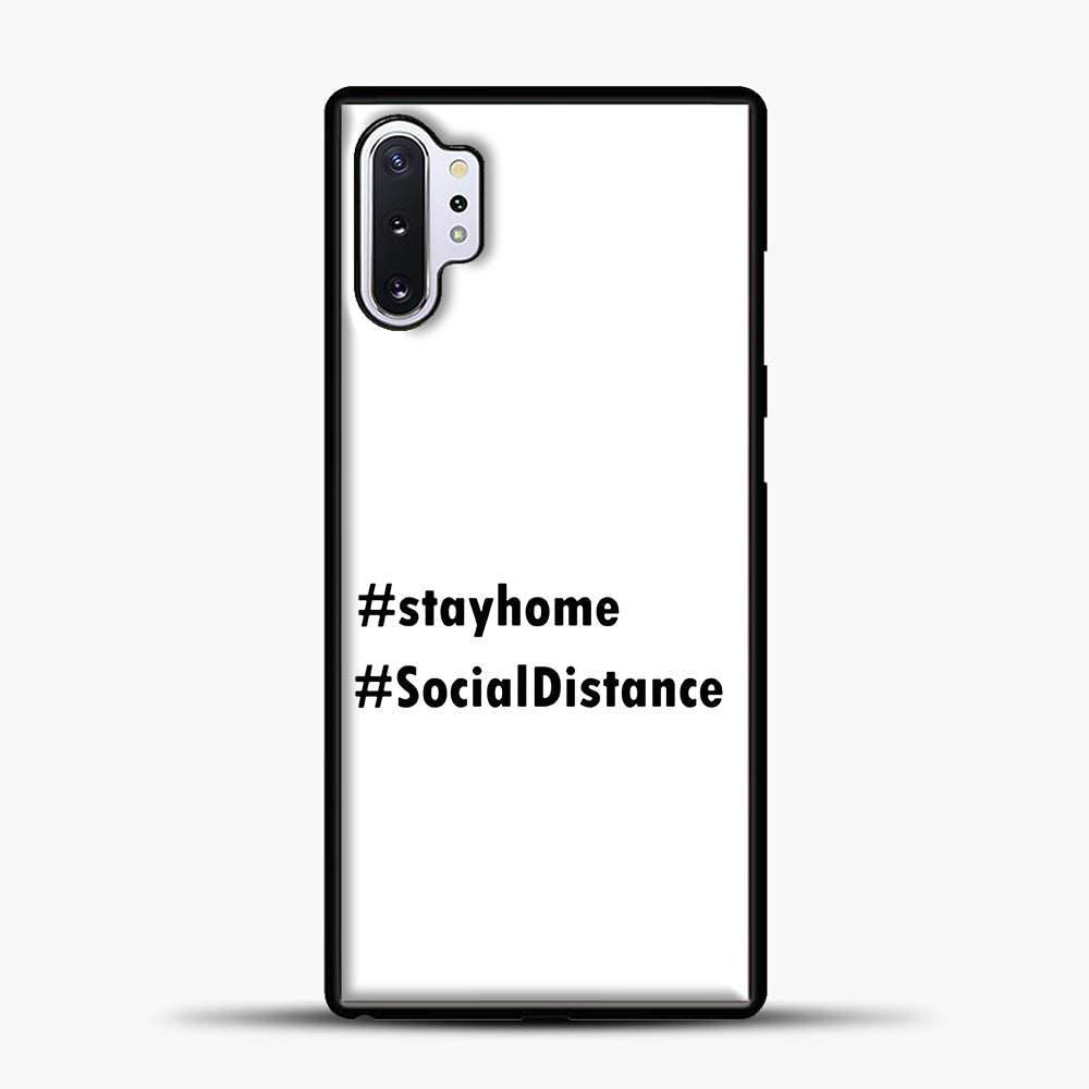 Sosial Distancing Hastag Samsung Galaxy Note 10 Plus Case, Black Plastic Case | casedilegna.com