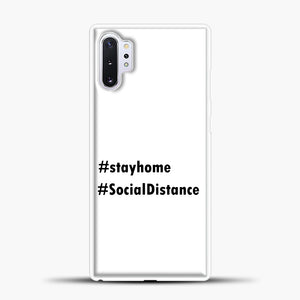 Sosial Distancing Hastag Samsung Galaxy Note 10 Plus Case, White Plastic Case | casedilegna.com