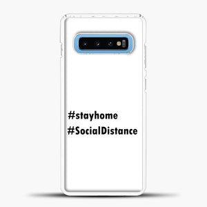 Sosial Distancing Hastag Samsung Galaxy S10 Case, White Plastic Case | casedilegna.com