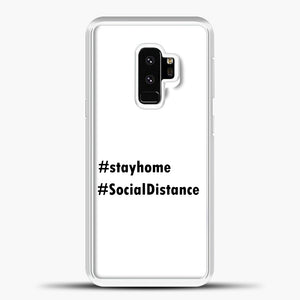Sosial Distancing Hastag Samsung Galaxy S9 Case, White Plastic Case | casedilegna.com