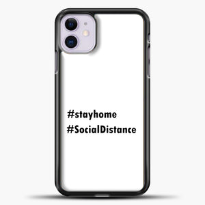 Sosial Distancing Hastag iPhone 11 Case, Black Plastic Case | casedilegna.com