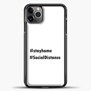 Sosial Distancing Hastag iPhone 11 Pro Max Case, Black Plastic Case | casedilegna.com