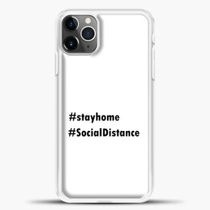 Sosial Distancing Hastag iPhone 11 Pro Max Case, White Plastic Case | casedilegna.com