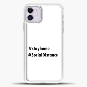 Sosial Distancing Hastag iPhone 11 Case, White Plastic Case | casedilegna.com