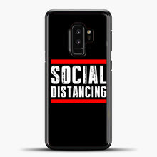Load image into Gallery viewer, Sosial Distancing Line Red Samsung Galaxy S9 Case, Black Plastic Case | casedilegna.com