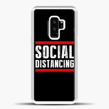 Load image into Gallery viewer, Sosial Distancing Line Red Samsung Galaxy S9 Case, White Plastic Case | casedilegna.com