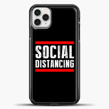 Load image into Gallery viewer, Sosial Distancing Line Red iPhone 11 Pro Case, Black Plastic Case | casedilegna.com