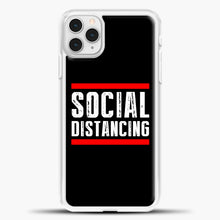 Load image into Gallery viewer, Sosial Distancing Line Red iPhone 11 Pro Case, White Plastic Case | casedilegna.com