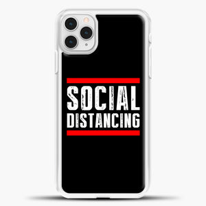 Sosial Distancing Line Red iPhone 11 Pro Case, White Plastic Case | casedilegna.com