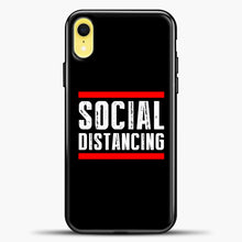 Load image into Gallery viewer, Sosial Distancing Line Red iPhone XR Case, Black Plastic Case | casedilegna.com