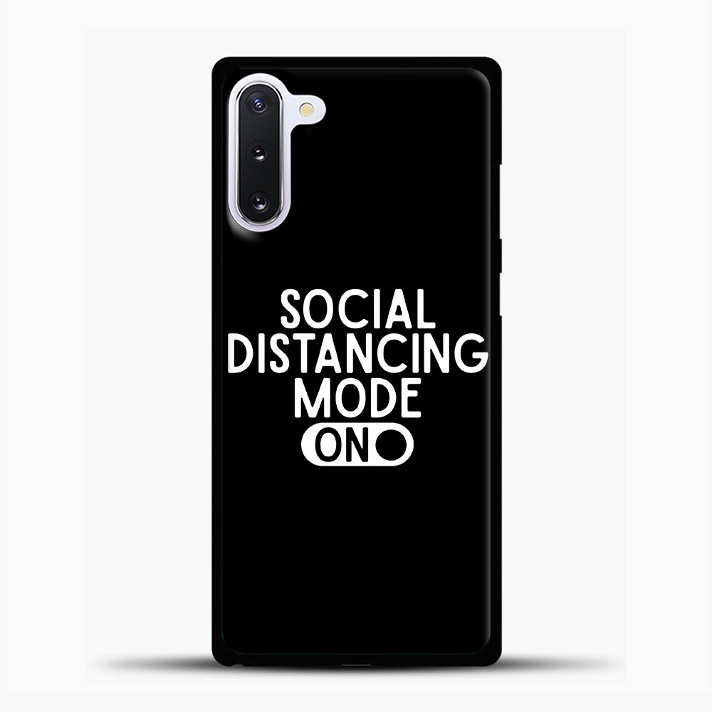 Sosial Distancing Mode On Samsung Galaxy Note 10 Case, Black Plastic Case | casedilegna.com