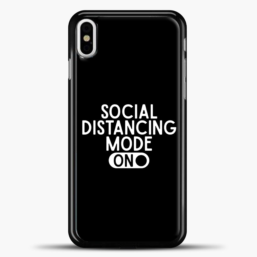 Sosial Distancing Mode On iPhone X Case, Black Plastic Case | casedilegna.com