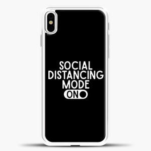 Sosial Distancing Mode On iPhone X Case, White Plastic Case | casedilegna.com
