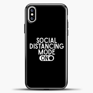 Sosial Distancing Mode On iPhone XS Case, Black Plastic Case | casedilegna.com