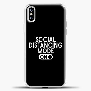 Sosial Distancing Mode On iPhone XS Case, White Plastic Case | casedilegna.com