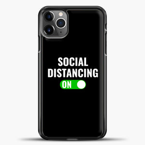 Sosial Distancing On Green iPhone 11 Pro Max Case, Black Plastic Case | casedilegna.com