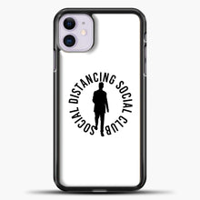 Load image into Gallery viewer, Sosial Distancing Social Club iPhone 11 Case, Black Plastic Case | casedilegna.com