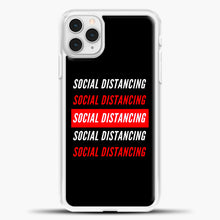 Load image into Gallery viewer, Sosial Distancing White Red iPhone 11 Pro Case, White Plastic Case | casedilegna.com
