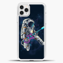 Load image into Gallery viewer, Spacebeat Rocker iPhone 11 Pro Case, White Plastic Case | casedilegna.com