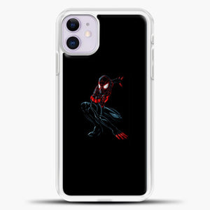 Spiderman Black iPhone 11 Case, White Plastic Case | casedilegna.com