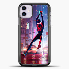 Load image into Gallery viewer, Spiderman Happy iPhone 11 Case, Black Plastic Case | casedilegna.com