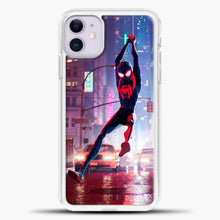 Load image into Gallery viewer, Spiderman Happy iPhone 11 Case, White Plastic Case | casedilegna.com