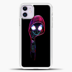 Spiderman Reach For Red Hat iPhone 11 Case, White Plastic Case | casedilegna.com