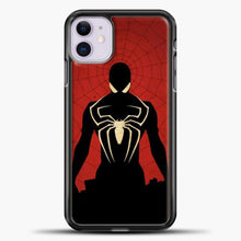 Load image into Gallery viewer, Spiderman Silhouette iPhone 11 Case, Black Plastic Case | casedilegna.com