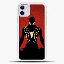 Load image into Gallery viewer, Spiderman Silhouette iPhone 11 Case, White Plastic Case | casedilegna.com