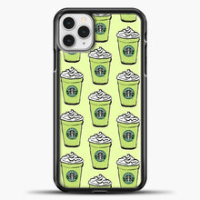 Load image into Gallery viewer, Starbucks Coffee Greentea Pattern iPhone 11 Pro Case, Black Plastic Case | casedilegna.com